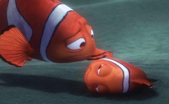 грусная рыбка немо